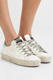 Hi Star distressed leather sneakers
