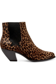 Sunset leopard-print calf hair ankle boots