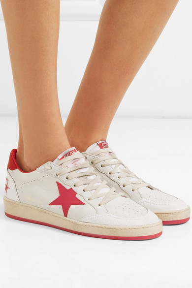 Golden Goose Sneakers Ball Star distressed leather sneakers