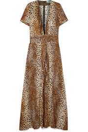 Lou leopard-print georgette maxi dress