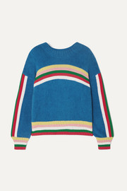 Mira Mikati Striped cotton-blend terry sweater