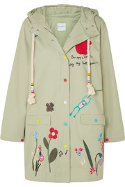 3143186b3e7614 Mira Mikati - Embroidered cotton-twill jacket