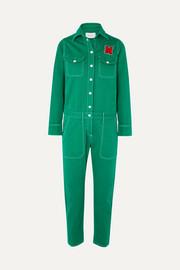 7608cf5b5a4 Mira Mikati - Appliquéd cotton-twill jumpsuit
