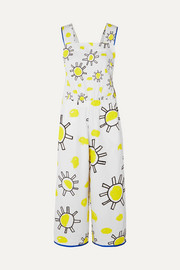 Mira Mikati Printed cotton and linen-blend jumpsuit