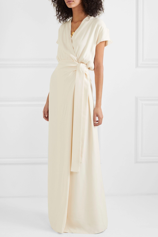 Vanessa Cocchiaro The Lady washed-crepe wrap maxi dress