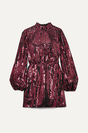 RIXO + Laura Jackson Samantha sequined crepe mini dress
