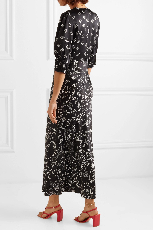 RIXO + Laura Jackson Zadie printed silk maxi dress
