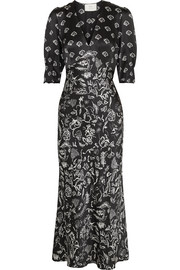 RIXO + Laura Jackson Zadie printed silk maxi dress