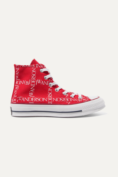 + Jw Anderson Chuck Taylor All Star 70 Logo Print Canvas High Top Sneakers by Converse