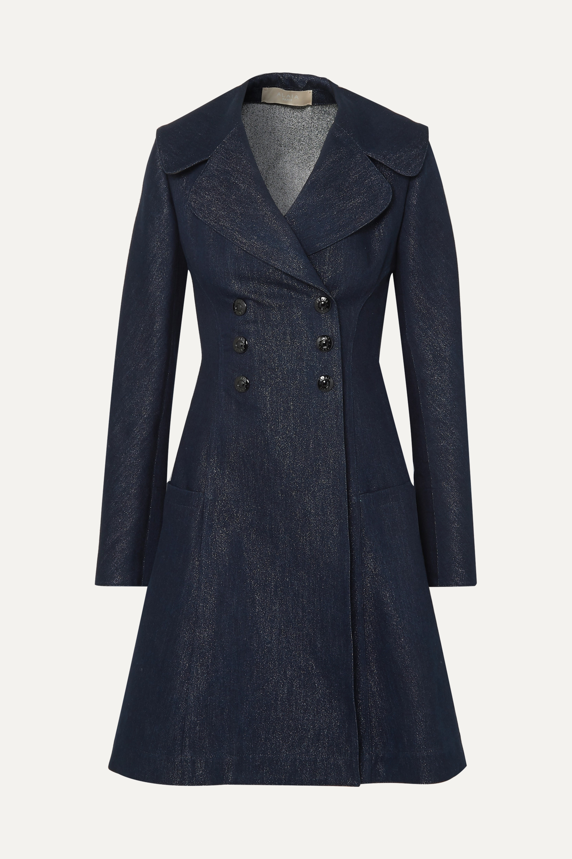 Alaïa Double-breasted metallic denim coat