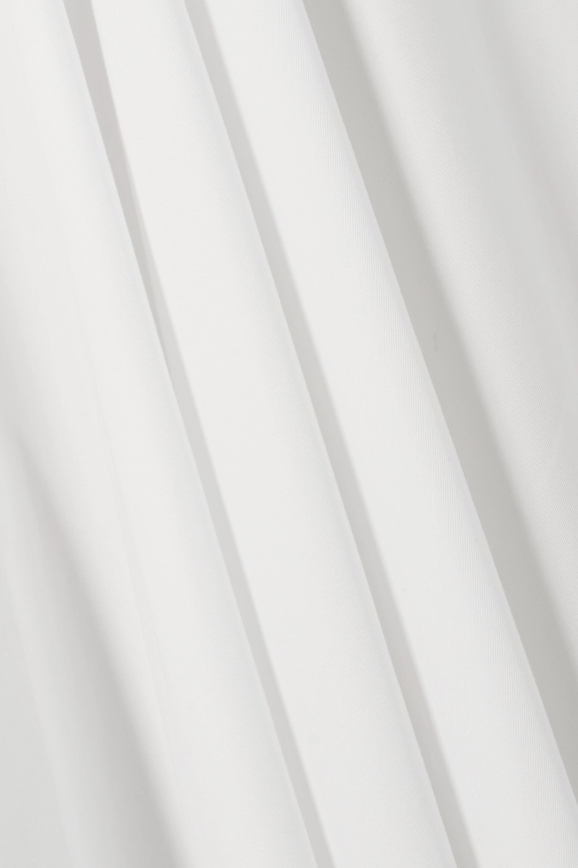 Alaïa Robe longue en gabardine de coton