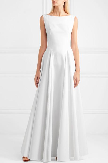 Cotton-gabardine maxi dress