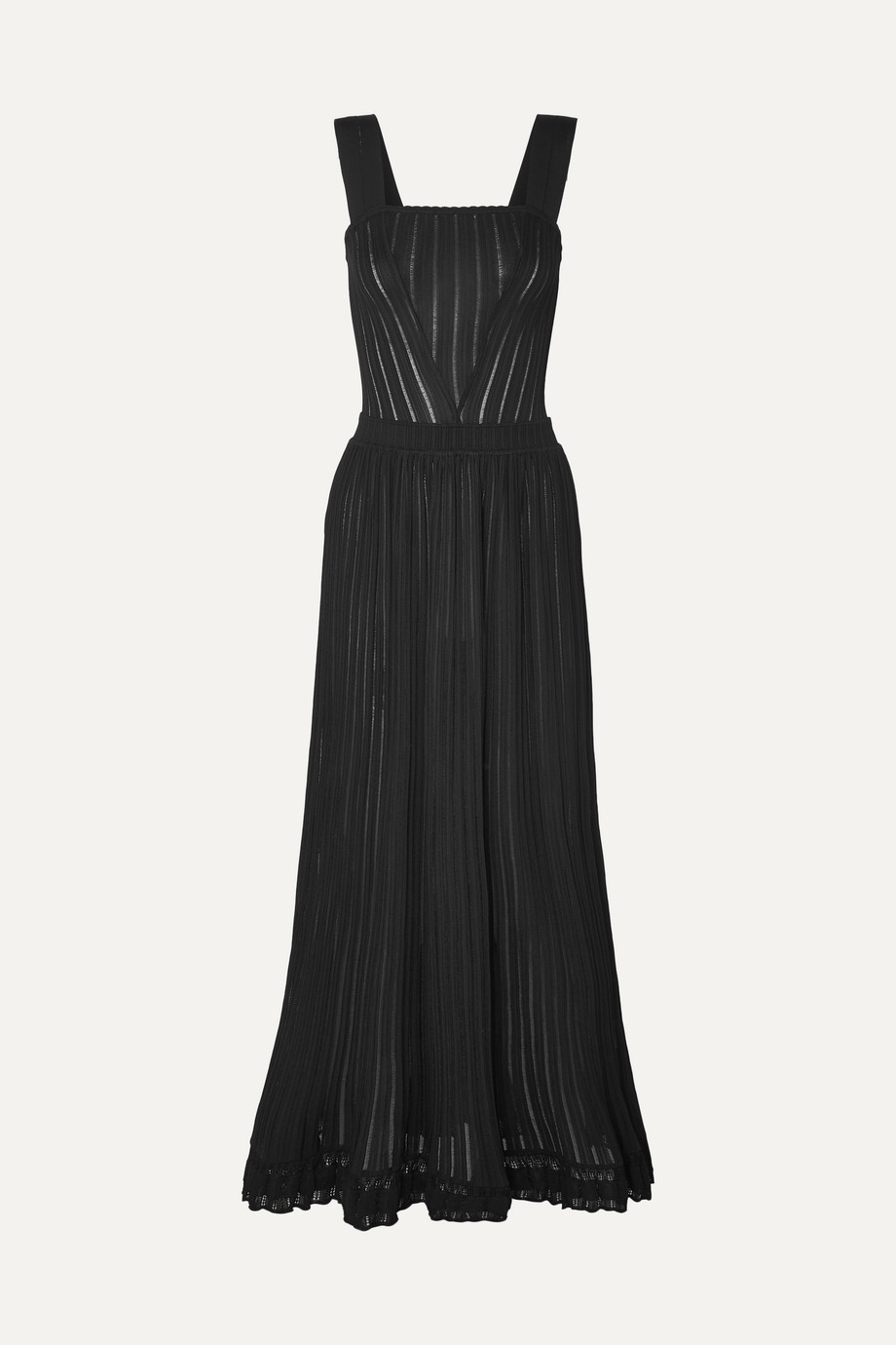 Alaïa Ribbed stretch-knit maxi dress