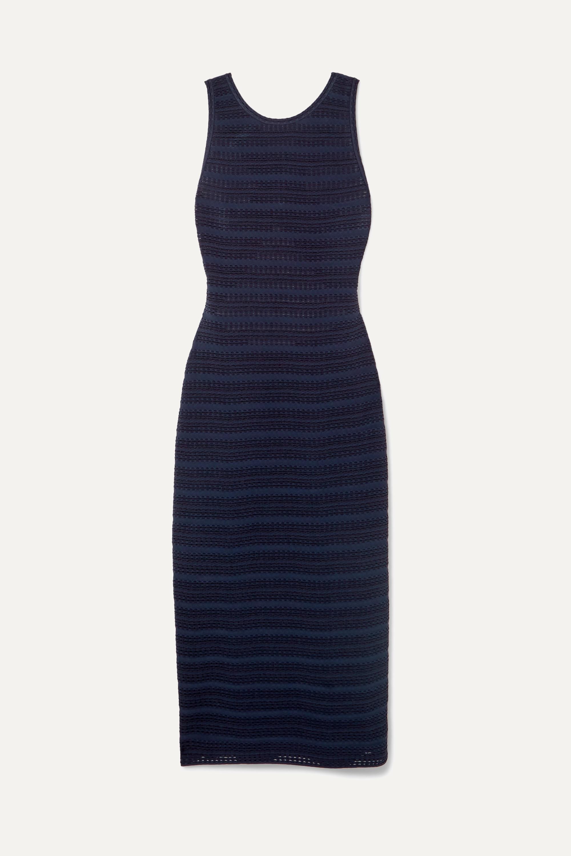 Alaïa Kleid aus Jacquard-Strick mit Rückenausschnitt
