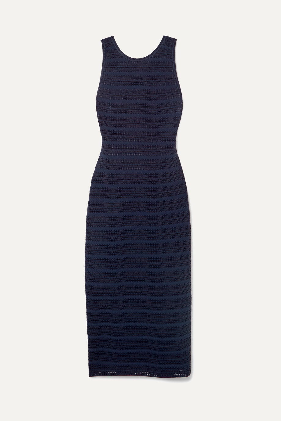 Alaïa Open-back jacquard-knit dress