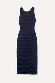 Alaïa Open-back jacquard-knit dress
