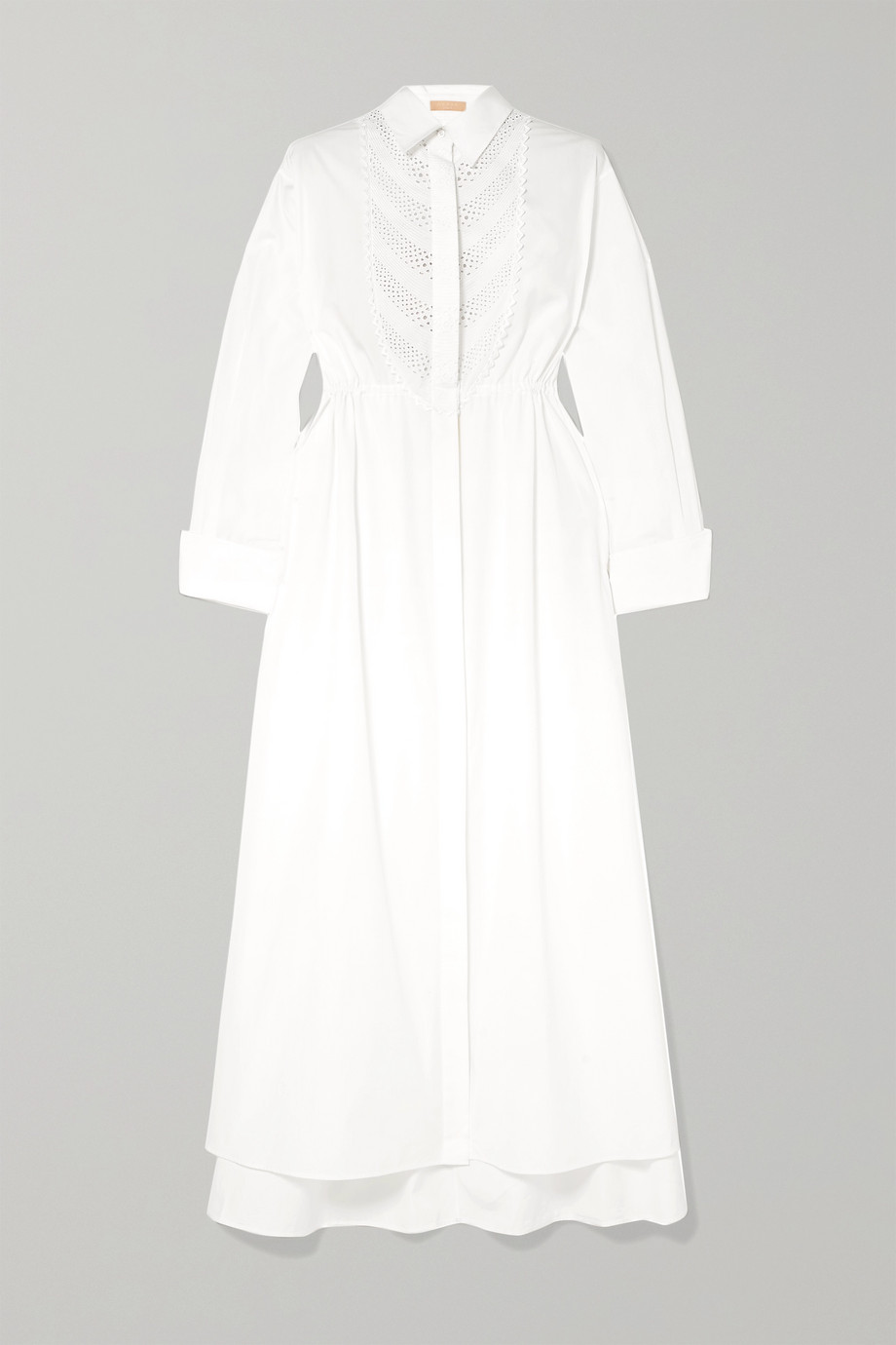 Alaïa Broderie anglaise cotton-poplin dress