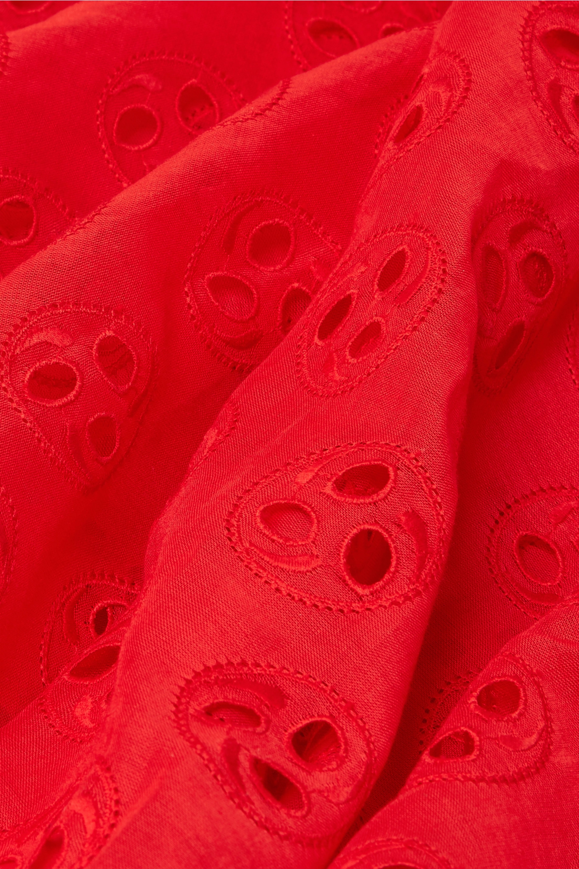 Alaïa Broderie anglaise cotton-voile maxi skirt