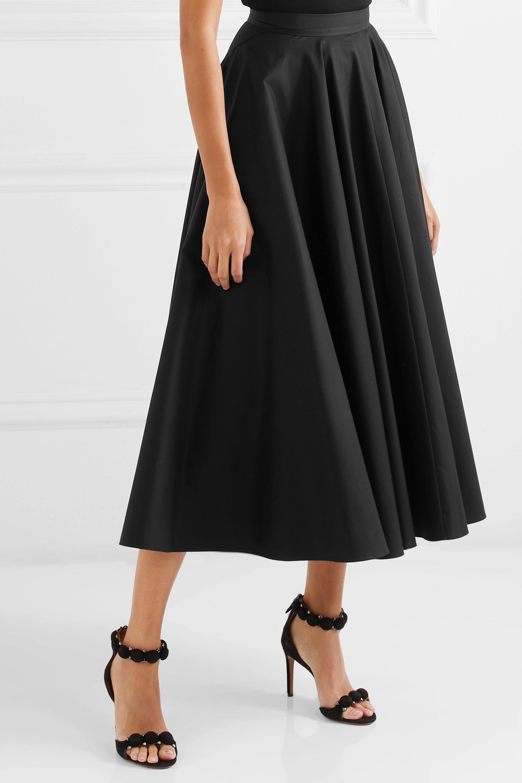 Alaïa 褶裥纯棉斜纹布中长半身裙