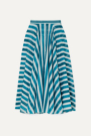 Alaïa Striped cotton-voile skirt