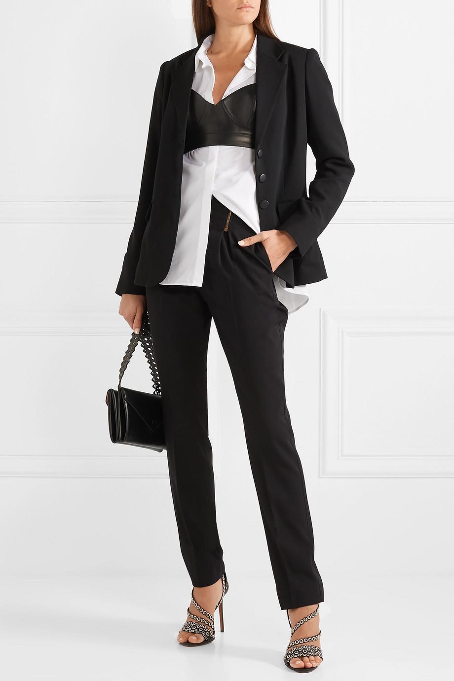 Alaïa Leather bustier top