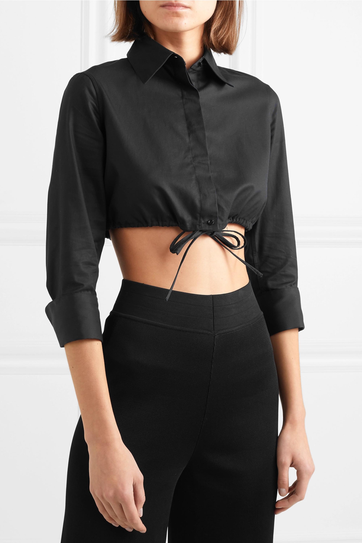 Alaïa Cropped cotton-gabardine shirt