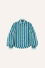 Striped cotton-voile shirt