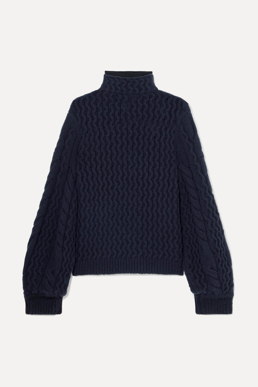 Victoria, Victoria Beckham Cable-knit turtleneck sweater