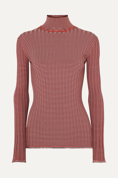 Turtleneck Knit Sweater Ribbed Beckham Striped Victoria Victoria xYXSq7w