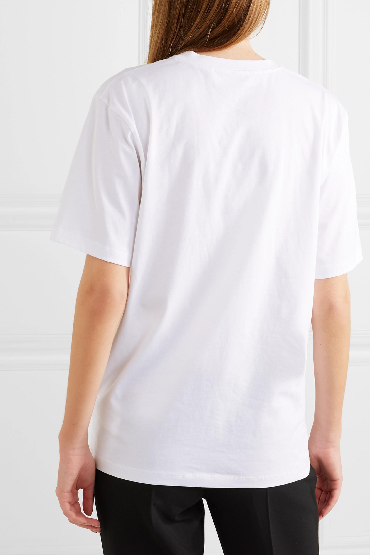 Victoria, Victoria Beckham T-shirt en jersey de coton The Victoria
