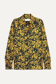 Printed crepe shirt