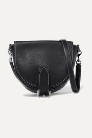 Bike small smooth and textured-leather shoulder bag