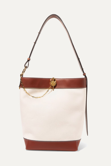 J.w.anderson LOCK LEATHER-TRIMMED CANVAS TOTE