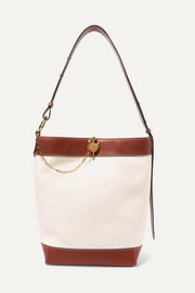 JW Anderson Lock leather-trimmed canvas tote