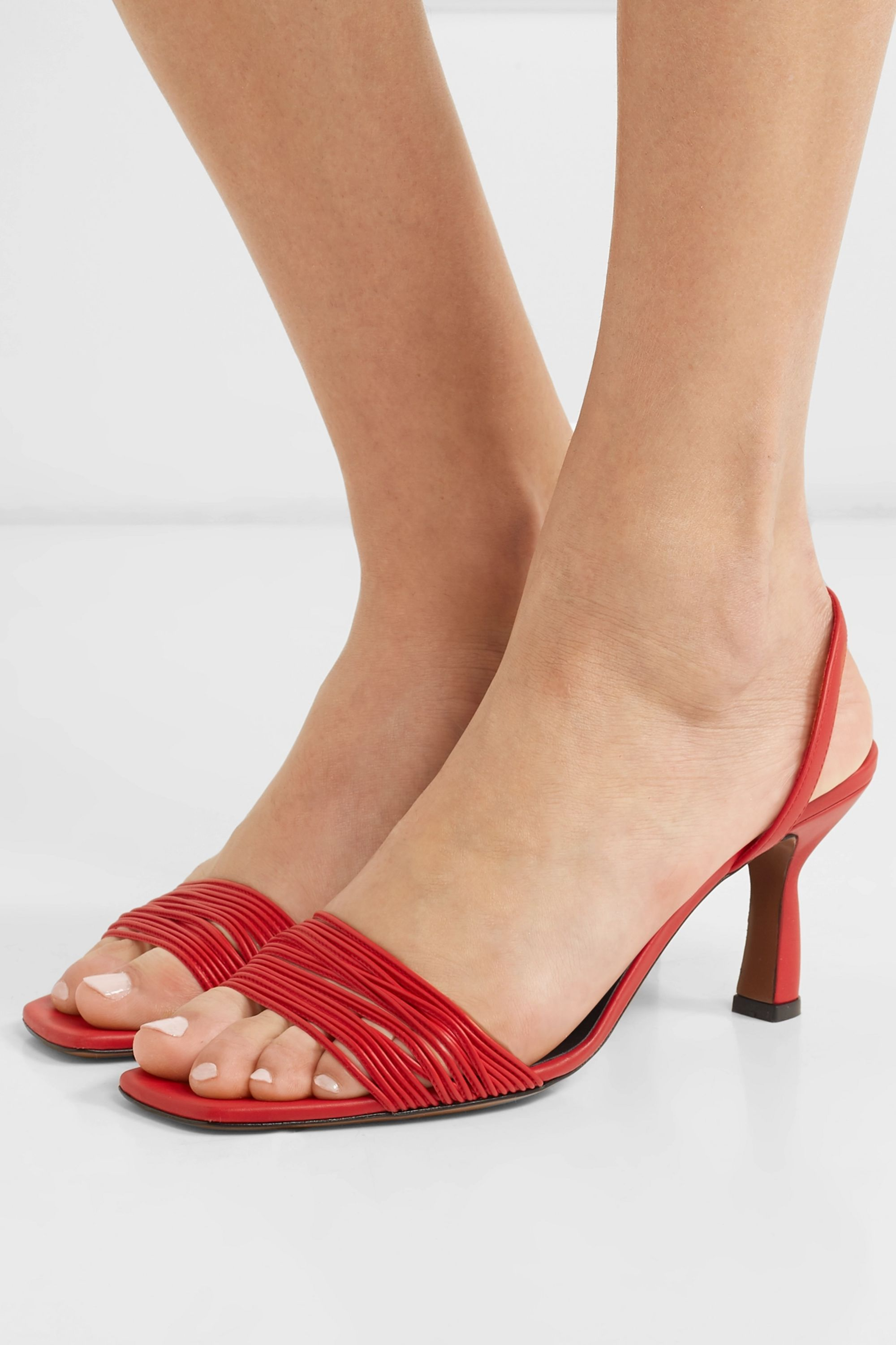 Neous Dilema leather slingback sandals