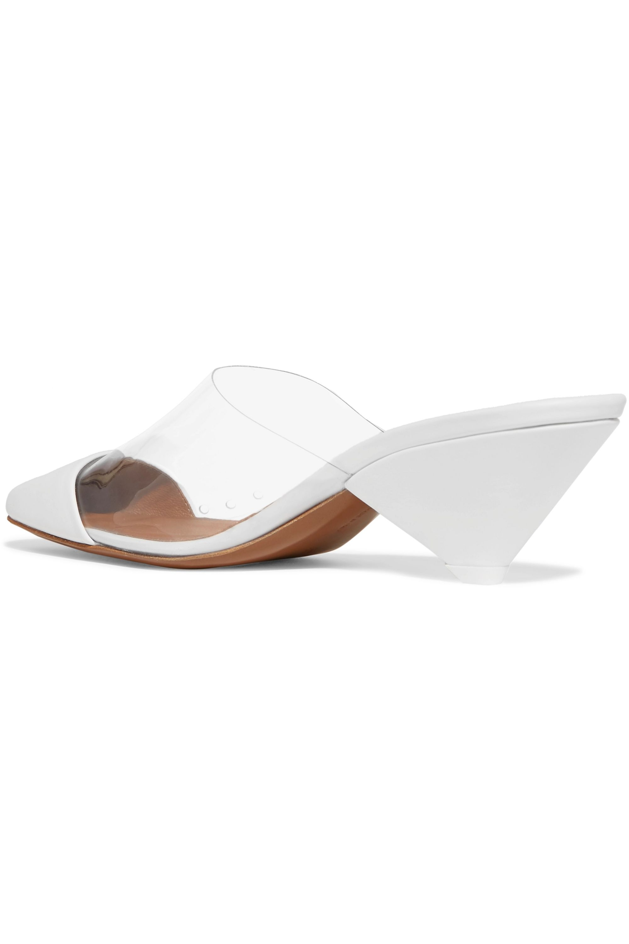 Neous Eriopsis leather and PVC mules