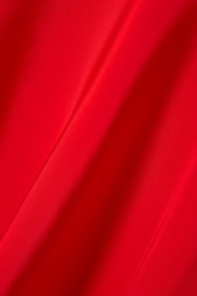 6765c8b741 CALVIN KLEIN 205W39NYC. Cape-effect silk-cady midi dress.  2