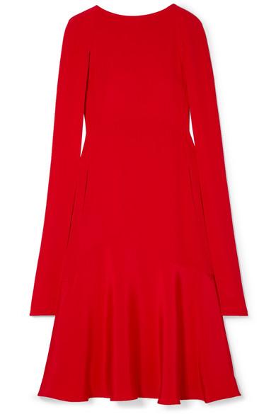 4eec257a1e CALVIN KLEIN 205W39NYC. Cape-effect silk-cady midi dress