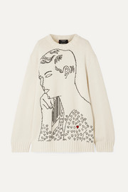 CALVIN KLEIN 205W39NYC + Andy Warhol Foundation oversized intarsia wool sweater