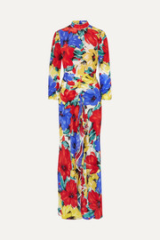 RIXO Lucy open-back floral-print silk crepe de chine dress