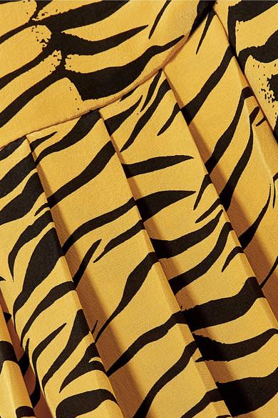 Soie À RixoJupe Crêpe Chine Plis En Imprimé Plats Tigre De v8ymNwOn0
