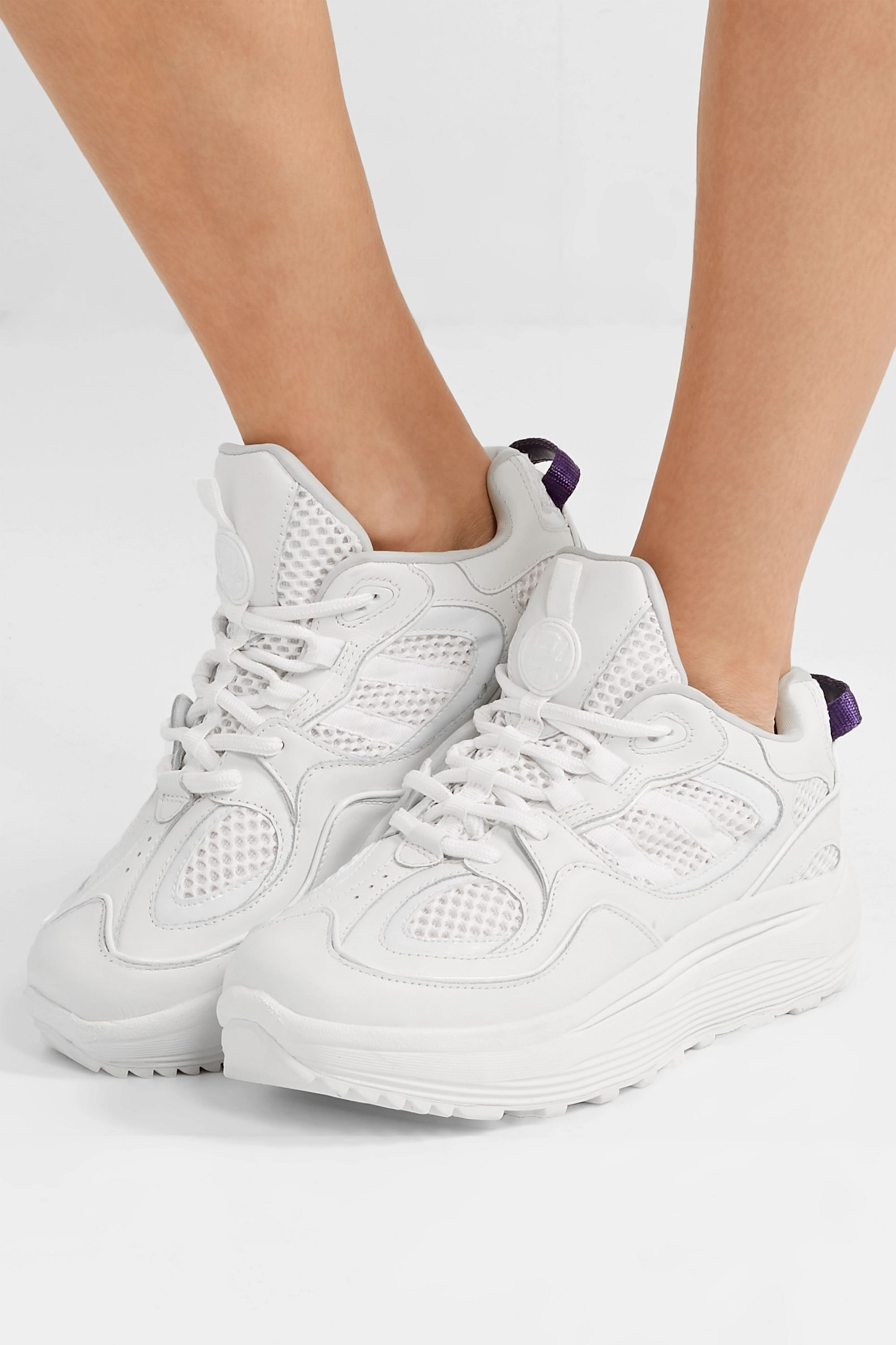 White Jet Turbo mesh, smooth and patent