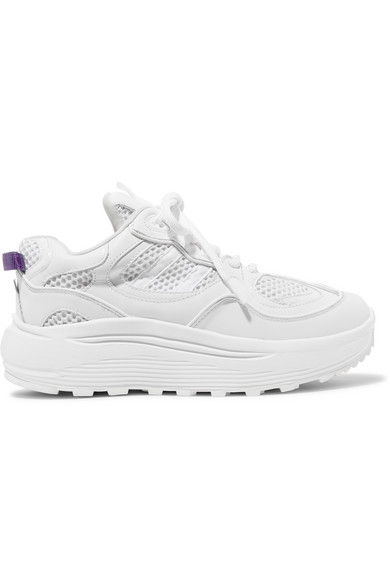 Eytys Platforms Jet Turbo mesh, smooth and patent-leather platform sneakers