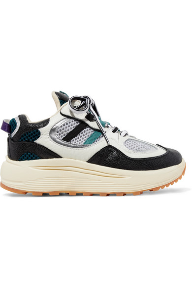 Eytys Platforms Jet Turbo mesh, smooth, textured and patent-leather platform sneakers