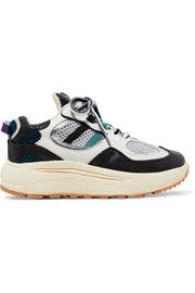 Jet Turbo mesh, smooth, textured and patent-leather platform sneakers