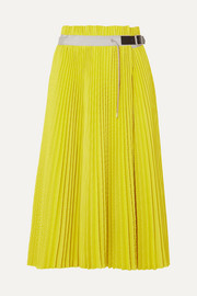 Sacai Pleated mesh wrap midi skirt