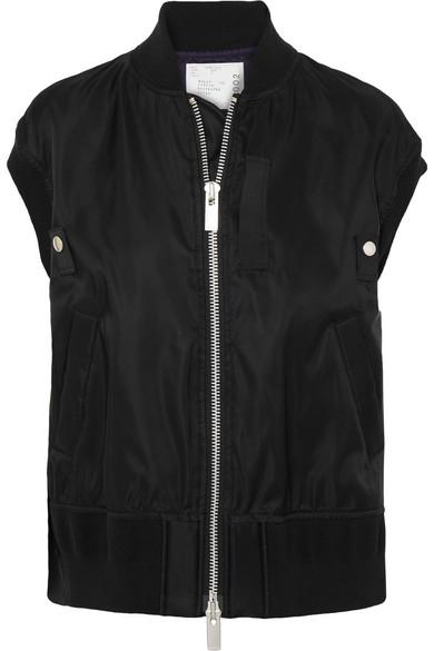 Ma-1 Tech-Satin Vest - Black Size 2