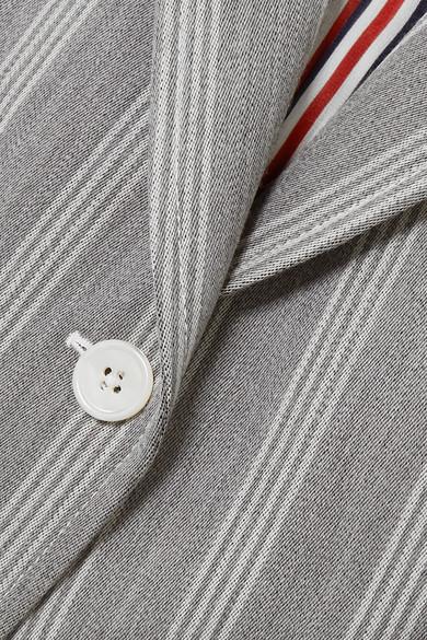 Thom Browne Blazers Striped wool and cotton-blend blazer