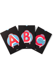Luggage letter stickers