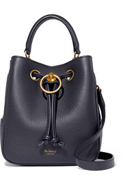 Hampstead small textured-leather bucket bag